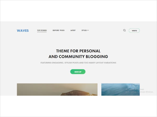 personal and community blogging them