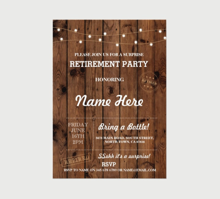Personalized Retirement Invitation
