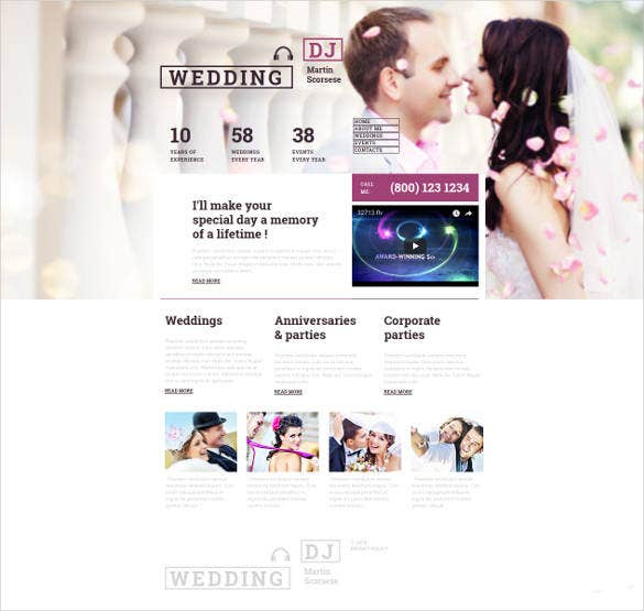 personalized wedding website