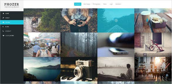 photography responsive html5 template