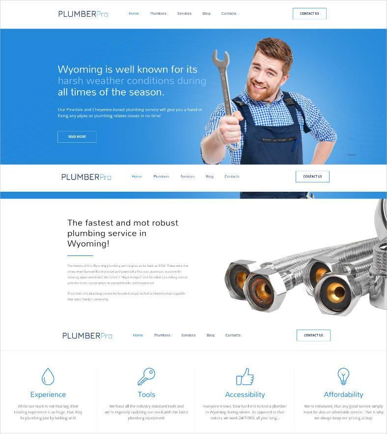 plumber pro responsive website theme 788x885