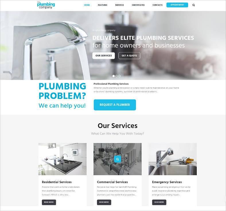 plumbing repair building construction theme 788x736