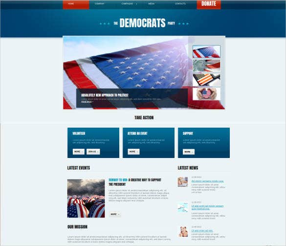 political party website