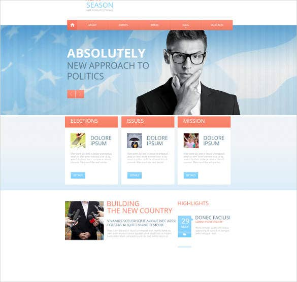 politician website theme