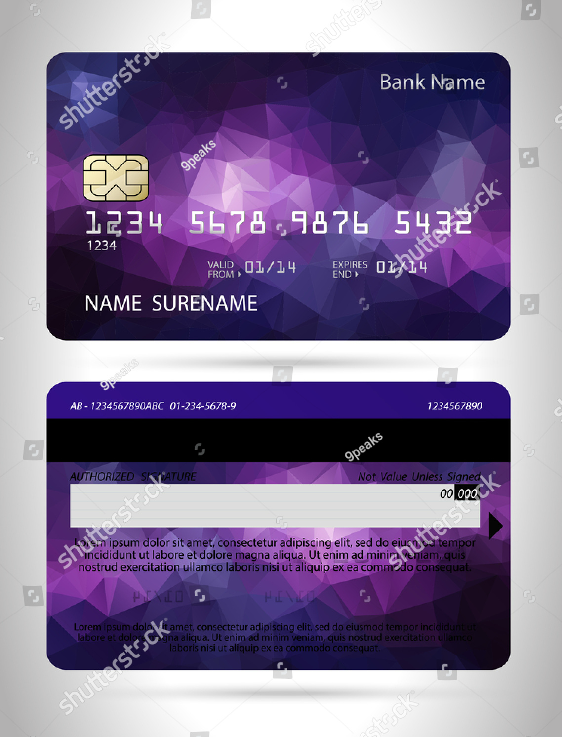 polygon-background-credit-card-design