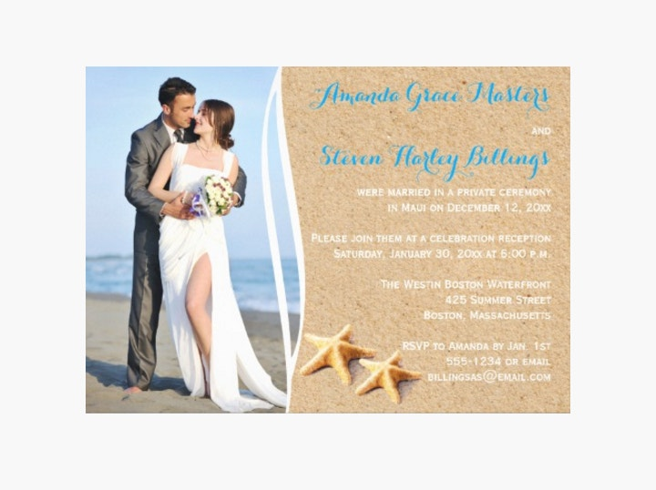 Post Wedding Reception Invitation