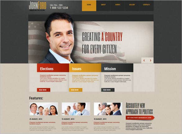 professional political website theme