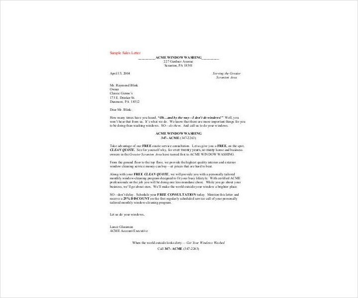 Professional Sales Promotion Letter