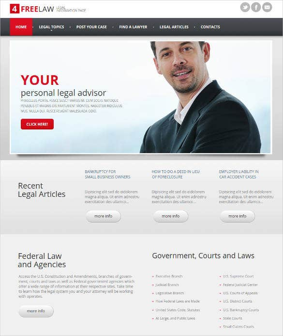 24 law firms website themes template free premium templates professional website template for law firms cheaphphosting Gallery