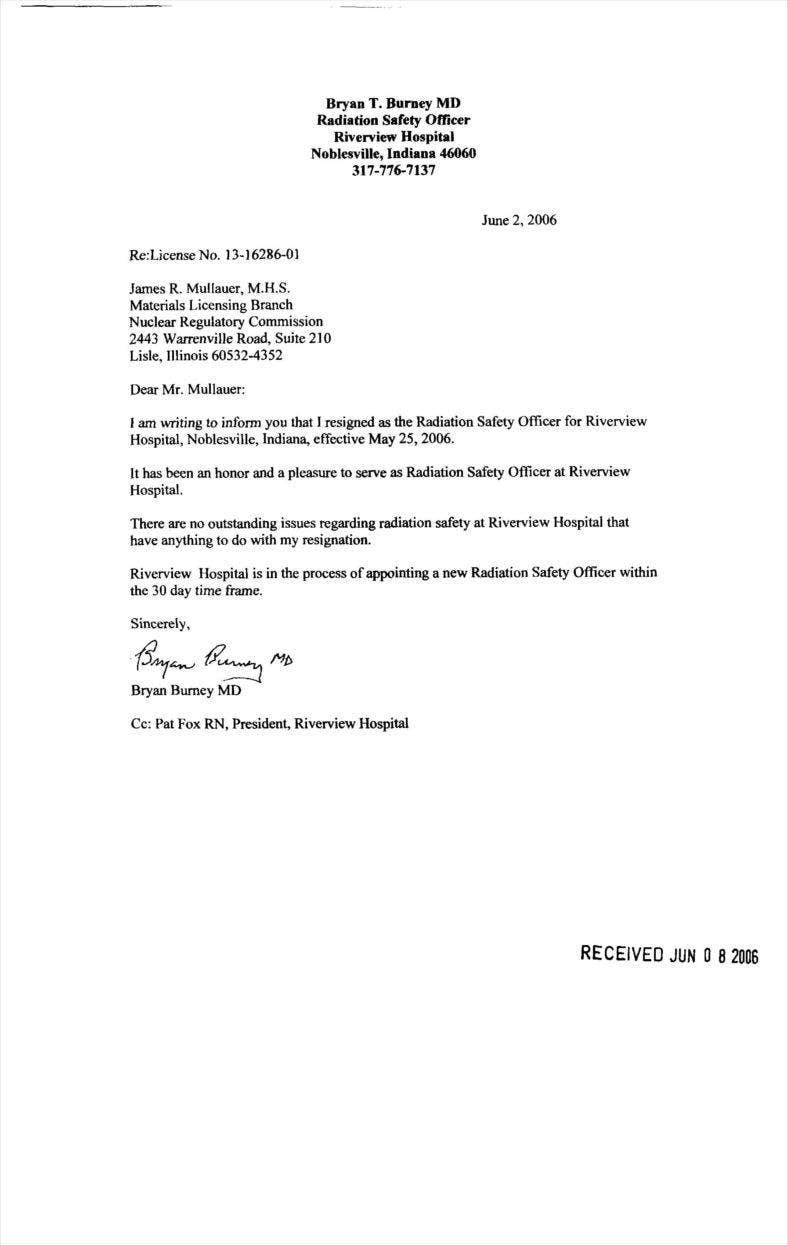 radiation safety offcer resignation letter example pdf download 11 788x1246