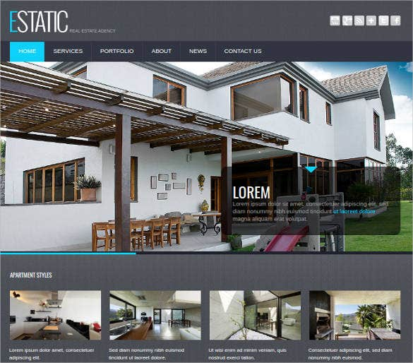 real estate agency website theme template