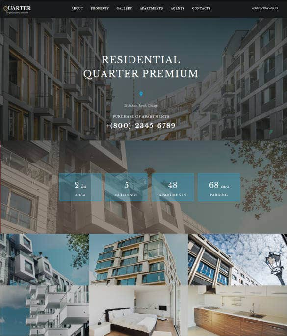 real estate company website design
