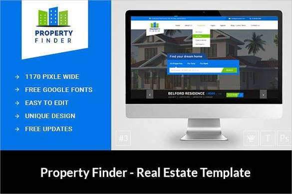 real estate property website template