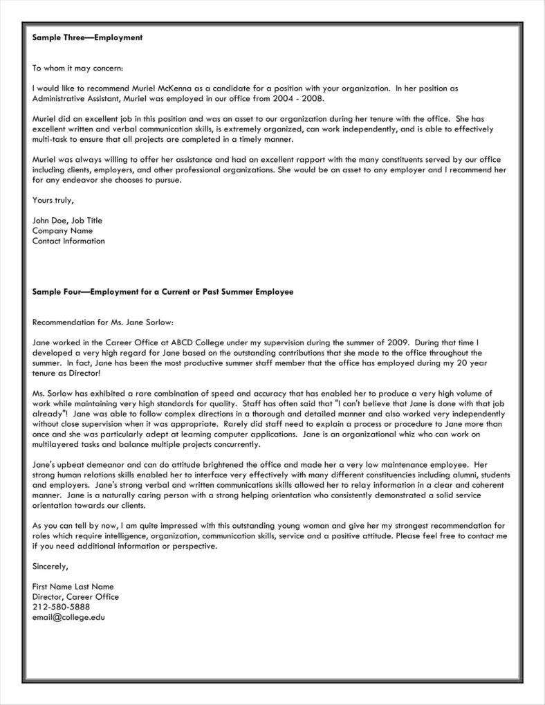 recommendation letter for employment from manager 51 788x1019