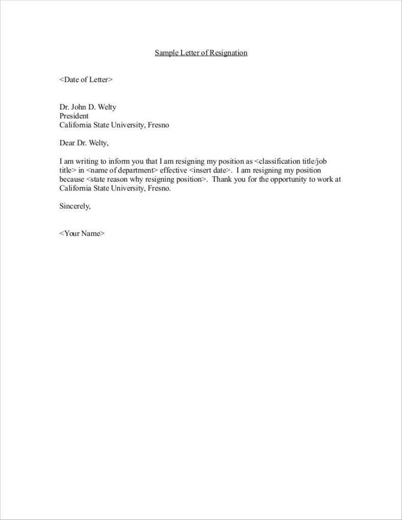 Samples Of Resignation Letters Cvlist Luxmyst Com