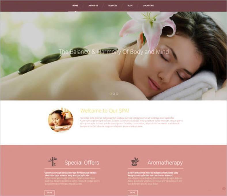 responsive design for spa salon website1 788x680