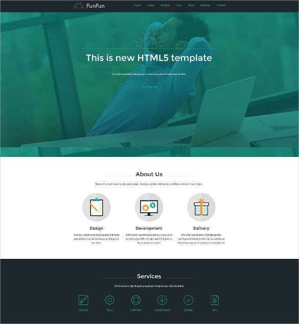responsive html5 website theme templae