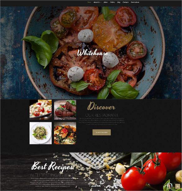 responsive restaurant website