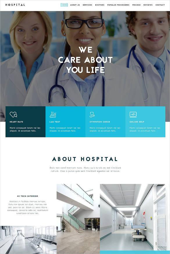 responsive website template for medical hospital