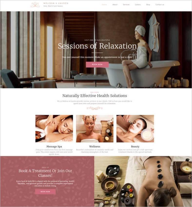 spa studio responsive website template1 788x851