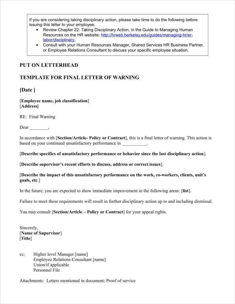 9 late warning letter examples free word pdf format download final warning letter for poor performance spiritdancerdesigns Choice Image