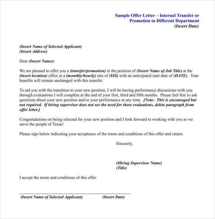 27  promotion letter templates in pdf