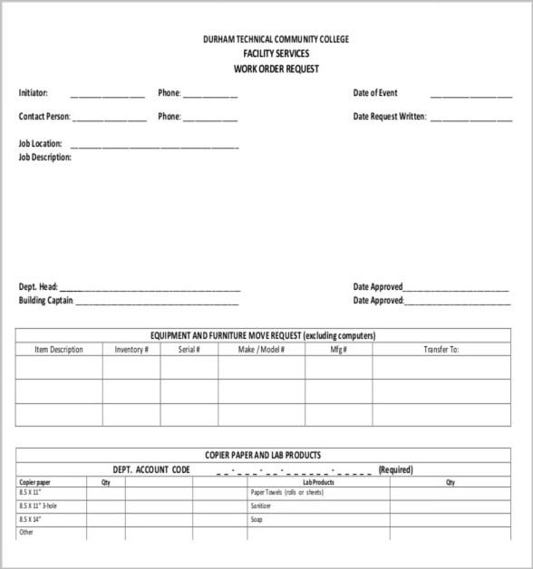 Job Order Forms  Free  Premium Templates