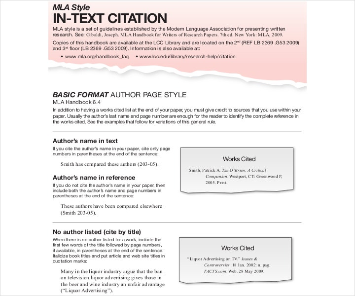 sample text citation mla