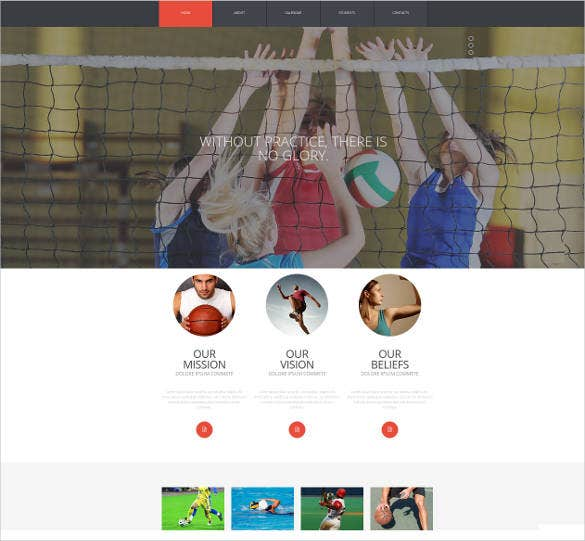 school sports website template