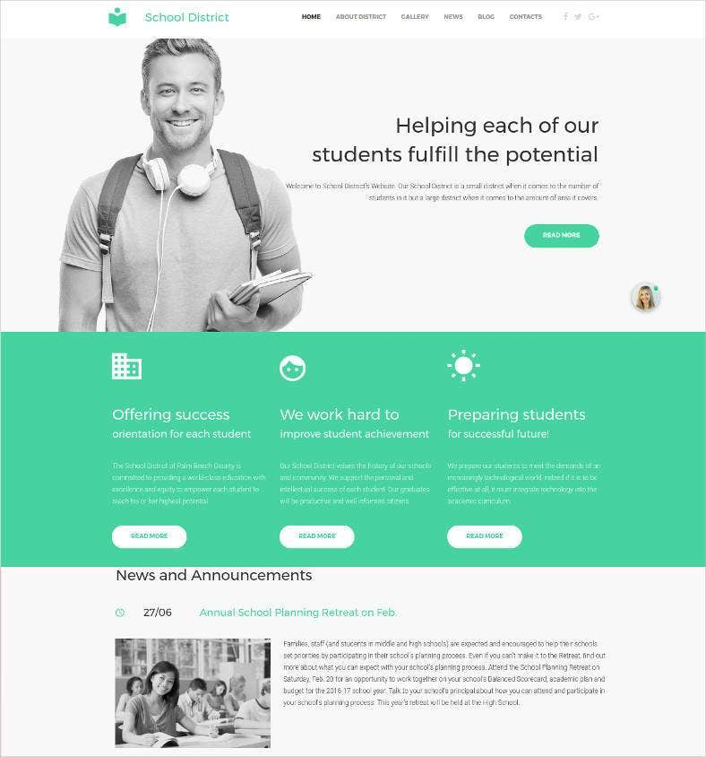 school student responsive website template 788x844