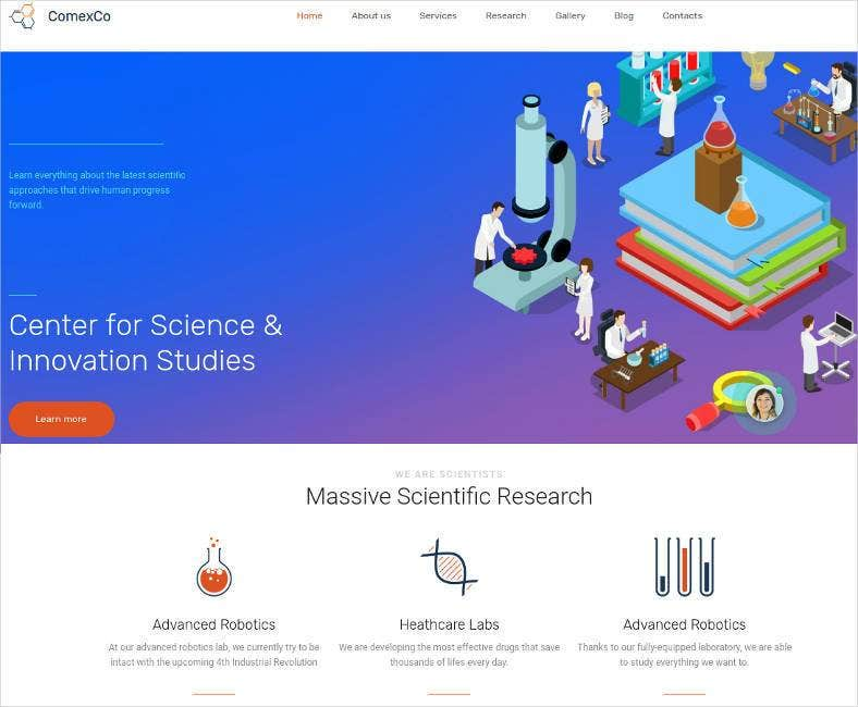 17+ Laboratory Website Templates & Themes | Free & Premium | Free ...
