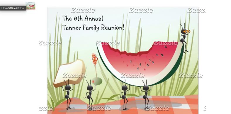 ants inspired picnic invitation