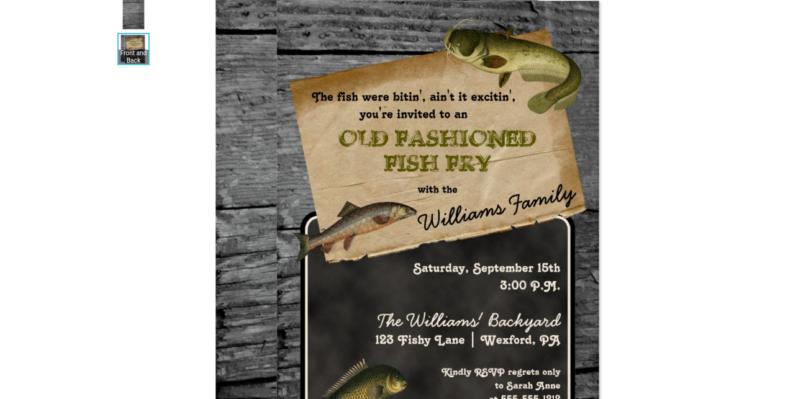 fish fry picnic invitation