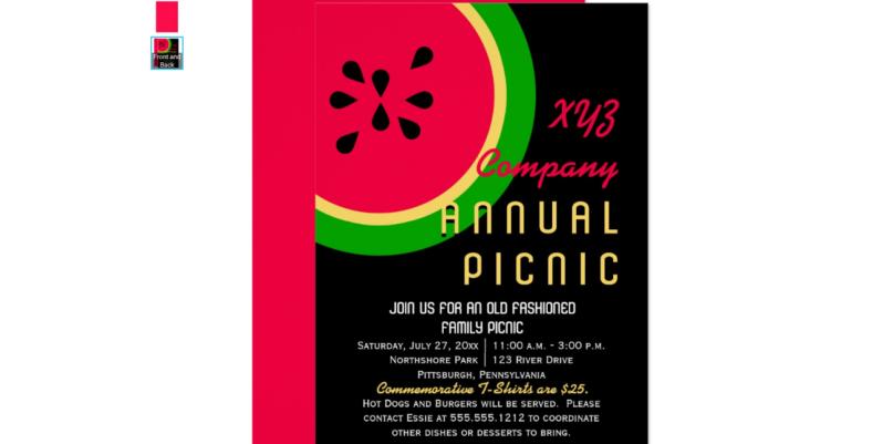 watermelon picnic invitation
