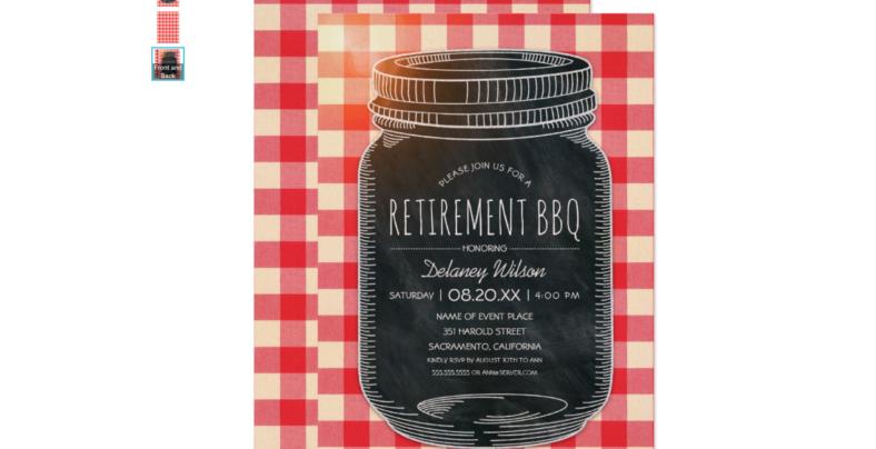 rustic retirement bbq invitation