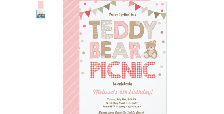 teddy bear invitation