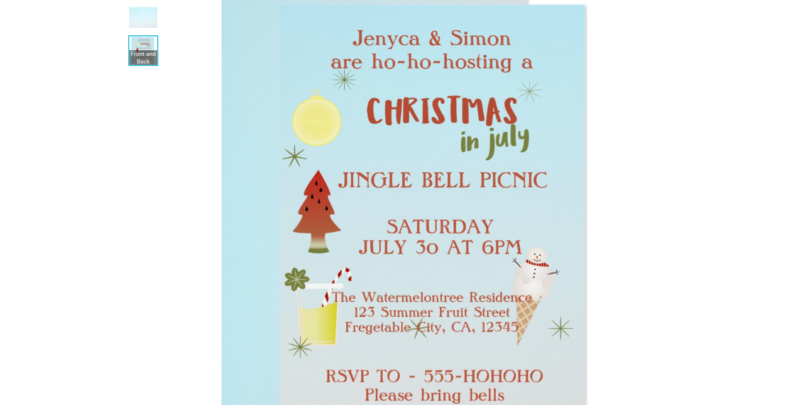 jingle bell invitation