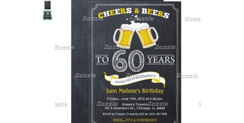 Cheers & Beers Chalkboard Invitation
