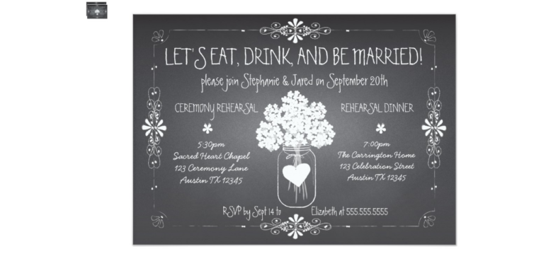 Wedding Chalkboard Invitation