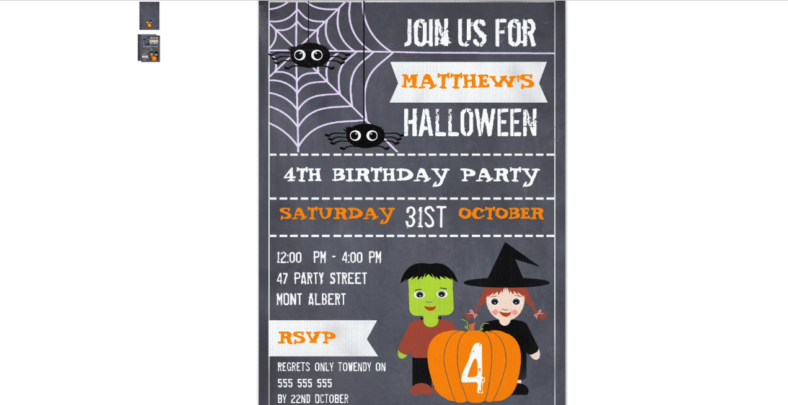 Halloween invitation design