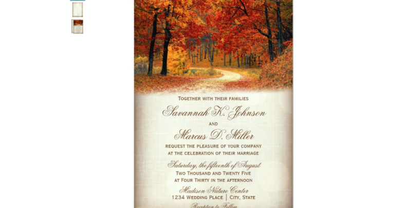 Autumn Season Rustic Invitation