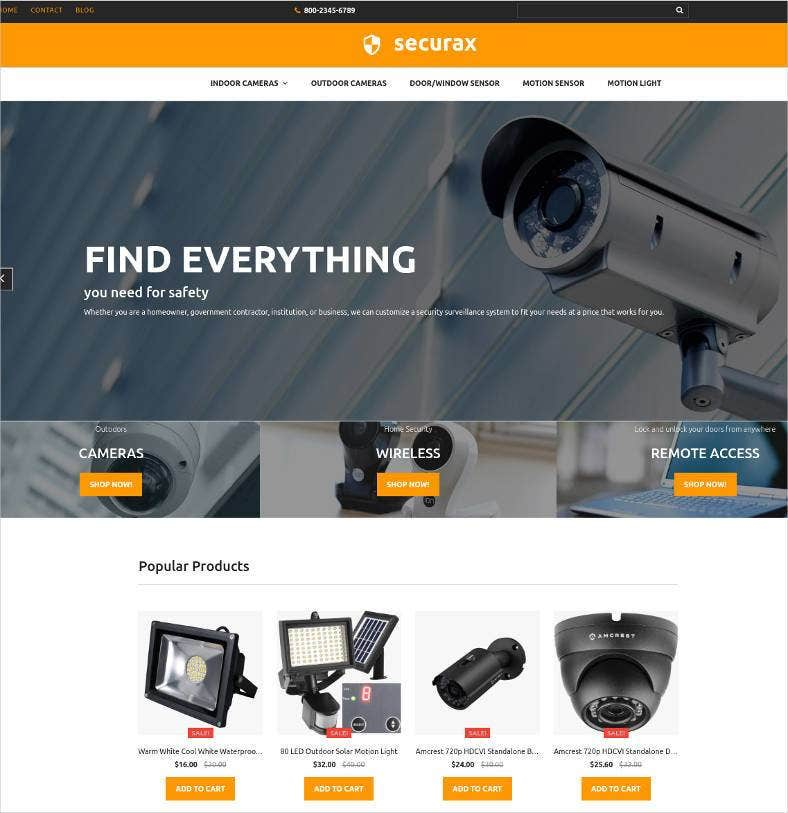 securax responsive ecommerce website 788x813
