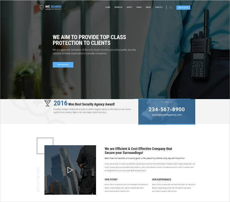 security guarding service html website 788x691