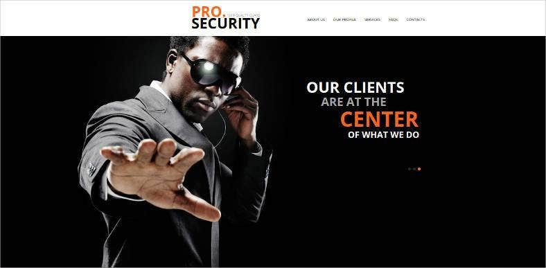 security protection website theme template 788x387