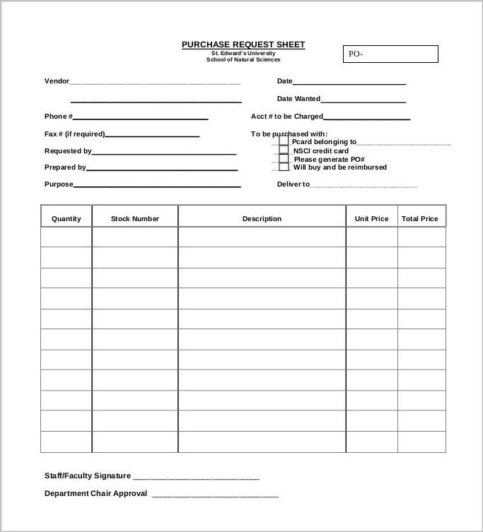 sheet-for-purchase-request-order
