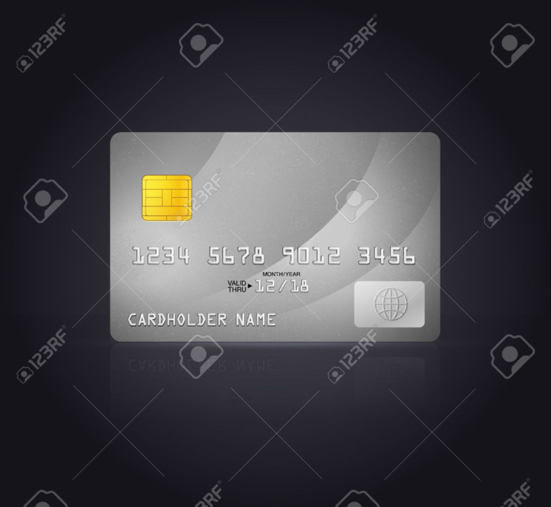 silver-debit-card-design