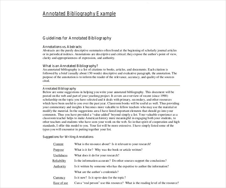 simple annotated bibliography example