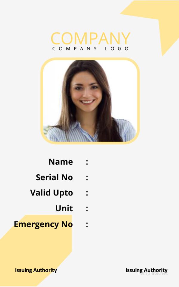simple-id-card-template