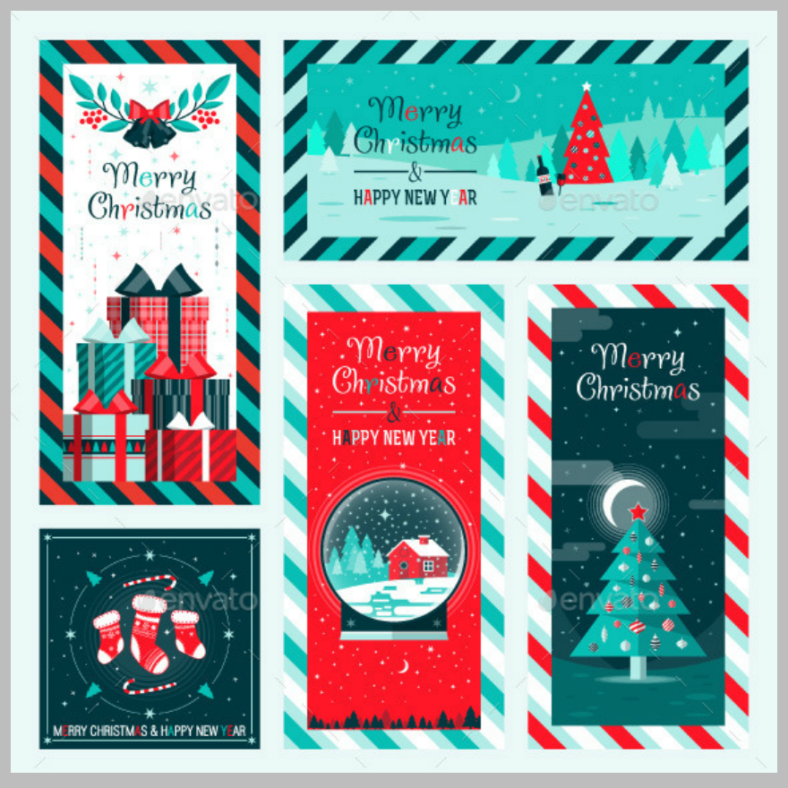 snow-themed-holiday-card-templates