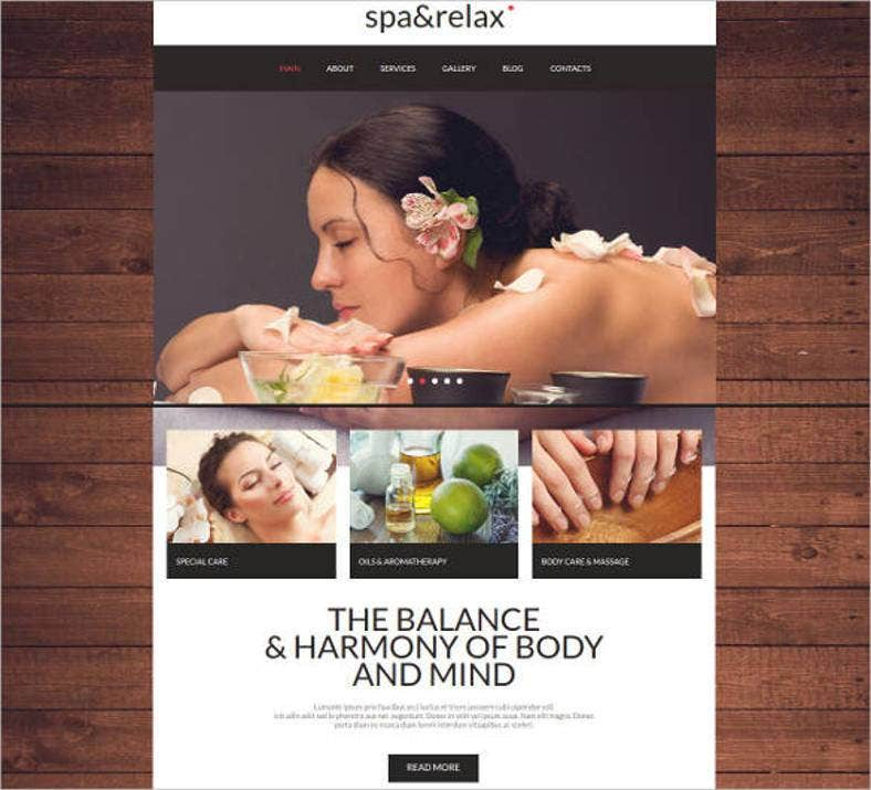 spa relax website theme1 788x715